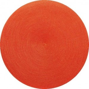 Round Placemat in Red/Orange