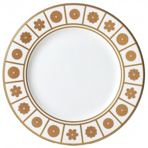 Rich White Dinner Plate
