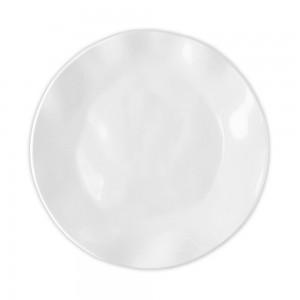 Ruffle White Round Dinner Plate