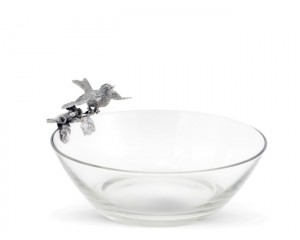 Song Bird Glass Bowl