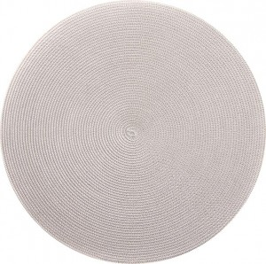 Round Placemat in Two Tone Silver/Sand