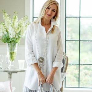 Christina Long Linen Shirt