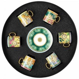 Versace Jungle Animalier Coffee Cup & Saucer Set/6