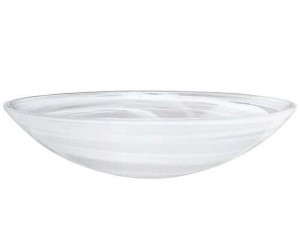 White Alabaster Serving Bowl