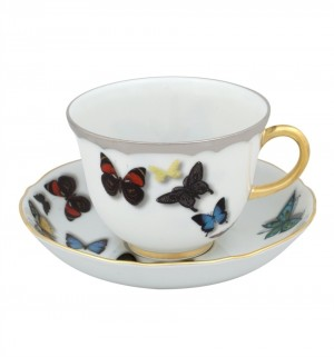 Butterfly Parade Tea Cup and Saucer