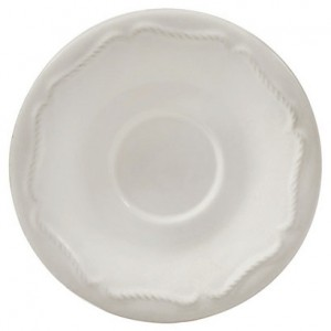 Berry and Thread Demitasse Saucer Whitewash