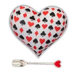 Card Heart Large with Red Heart Shpoon