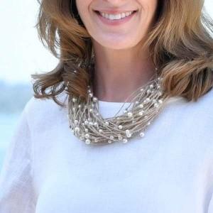 Multi Pearl Strand Necklace