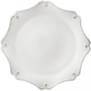 Berry and Thread Scallop Charger Whitewash