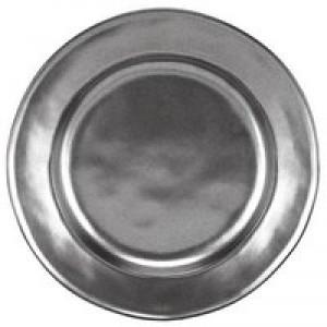 Pewter Stoneware Round Dessert/Salad Plate
