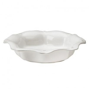 Berry and Thread Scallop Pasta Bowl Whitewash