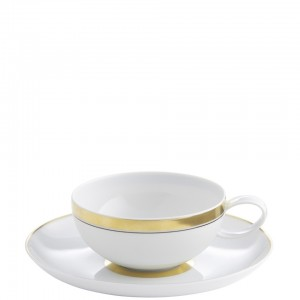 Domo Gold Tea Cup and Saucer