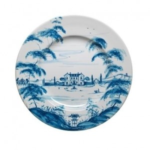 Country Estate Dinner Plate Main House Delft Blue