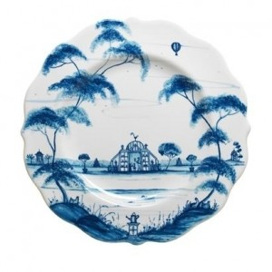 Country Estate Dessert Plate Conservatory Delft Blue