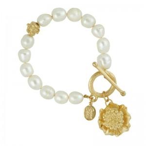 Camellia Pearl Bracelet