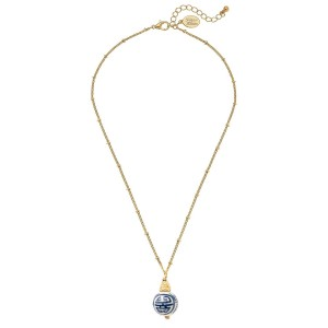 Blue and White Dainty Drop Necklace