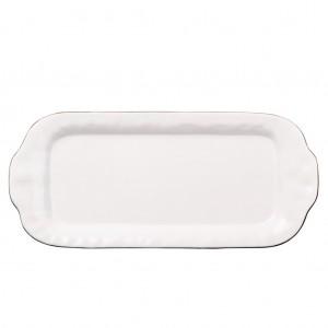 Cantaria large rectangular tray white