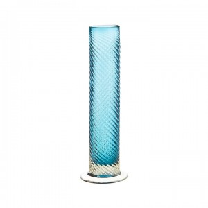 Turquoise Pulled Glass Vase