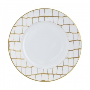 Domenico Vacca Dinner Plate Alligator Gold