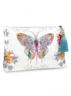 Paisley Butterfly Large Accessory Pouch