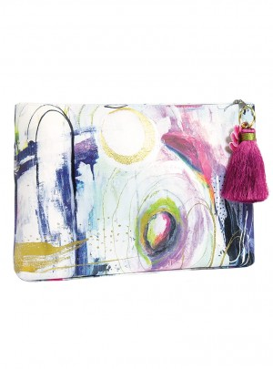 Brushstrokes Large Accessory Pouch