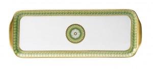 Arcades Green Rectangular Cake Platter
