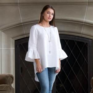 Bella Bell Sleeve Linen Top