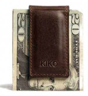 Magnetic Brown Leather Money Clip