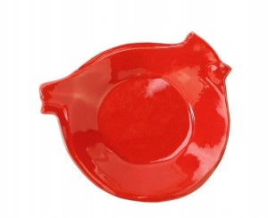Lastra Holiday Red Bird Canape Plate