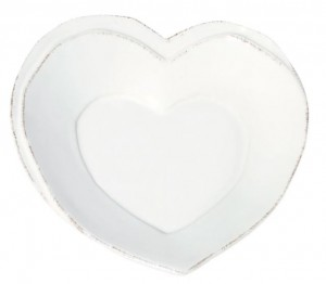 Lastra White Heart Dish