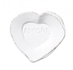 Lastra White Heart Mini Amore Plate