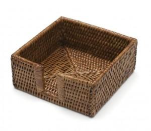 Rattan Cocktail Napkin Box