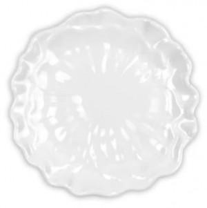 Peony White Canape Plate Set/4
