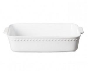 Pearl White Rectangular Baker