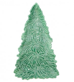 Lastra Holiday Figural Tree Small Platter