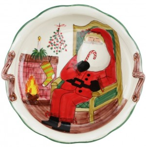 Old St. Nick Scallop Large Bowl with Fireplace