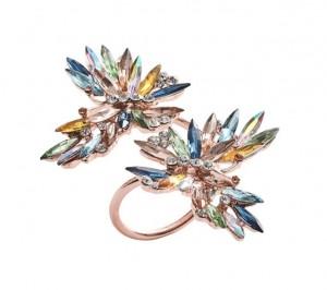 Butterflies Napkin Ring Multi Set/4