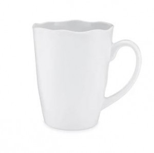 Ruffle White Mug