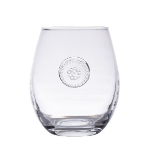 Berry and Thread Stemless White Wine Glass