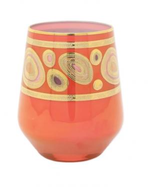 Regalia Orange Stemless Wine Glass