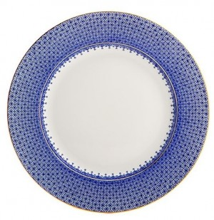 Cobalt Blue Lace Dinner Plate
