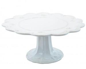 Incanto Stone White Lace Large Cake Stand