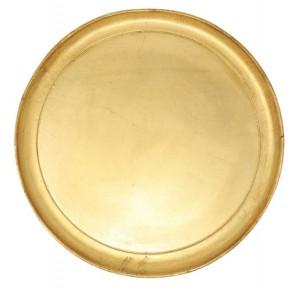 Florentine Wood Gold Medium Round Tray