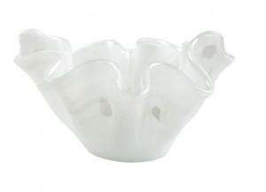 Onda Glass White Medium Bowl