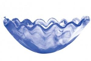 Onda Glass Cobalt Centerpiece