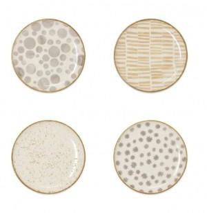 Earth Assorted Canape Plates Set/4