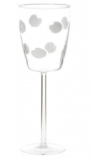 Drop  Wine Glass White