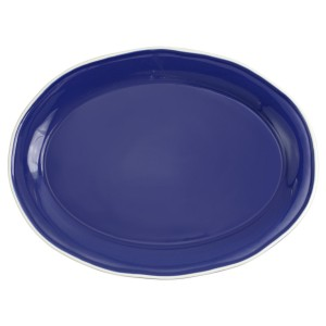 Chroma Blue Oval Platter