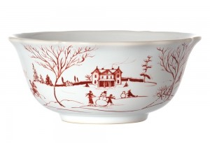Country Estate Winter Frolic Ruby Cereal Bowl