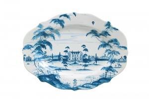 Country Estate Serving Platter Main House Delft Blue